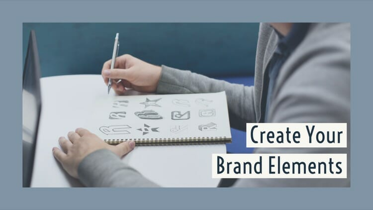 Create brand elements for your travel blog