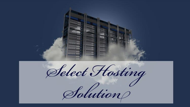 Select a hosting package for your blog