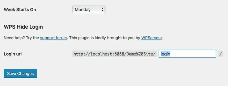 WPS Hide Login WordPress Plugin Screenshot