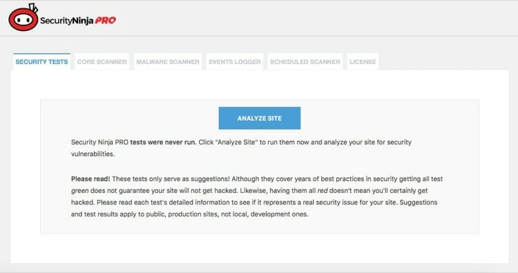 Secure Your WordPress With Security Ninja