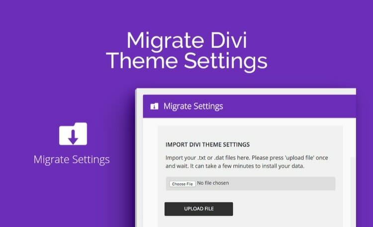 Migrate Divi Theme Settings
