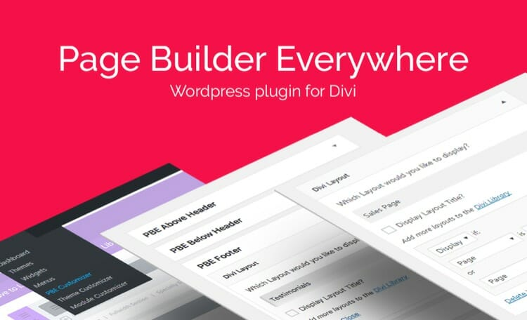 Page Builder Everywhere - Divi Premium Plugin