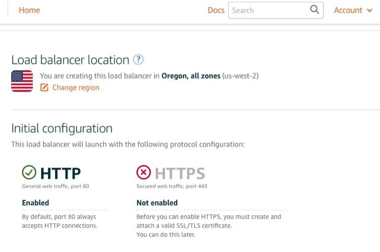 Create Load Balancer in AWS LightSail Admin Panel