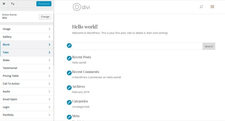 Module Customizer in Divi and Extra Theme