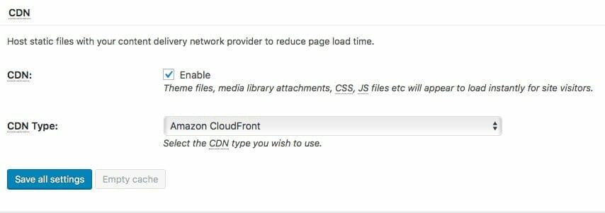 Enable CDN in W3 Total Cache WordPress Plugin