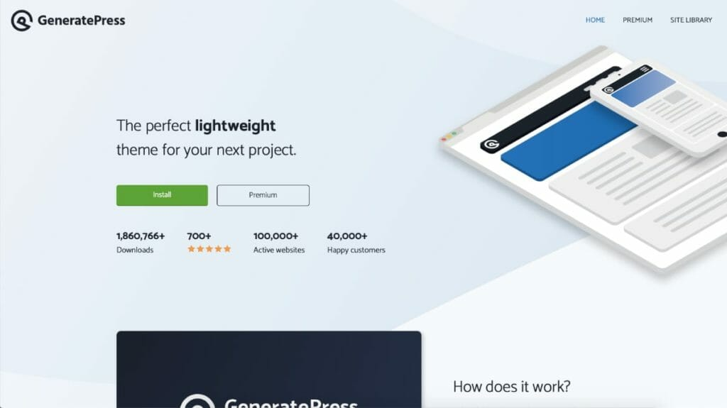 GeneratePress WordPress Themes With Support of Page Builders