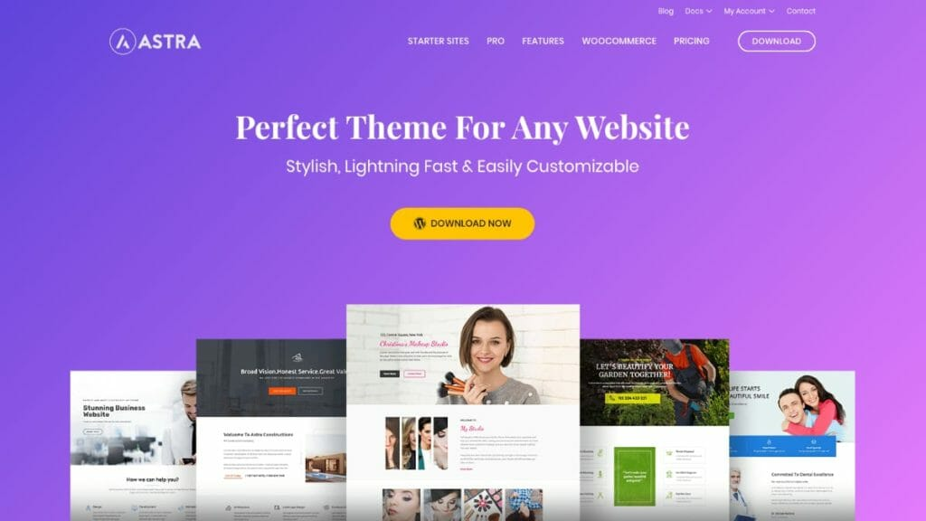 WordPress Astra Theme For Page Builders