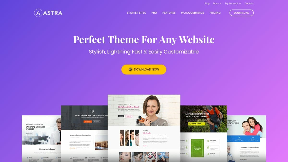 WordPress Theme For Page Builders