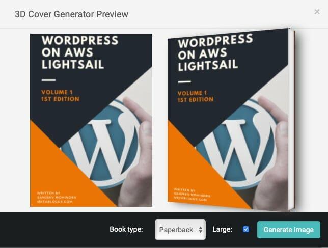 Designrr 3D Cover Image Generator