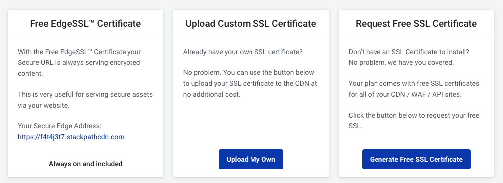 Enable SSL Support For CDN Delivery Domain