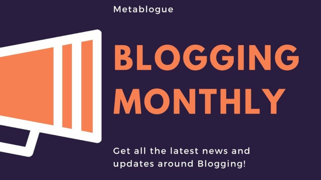 Blogging Monthly Podcast Episode 001