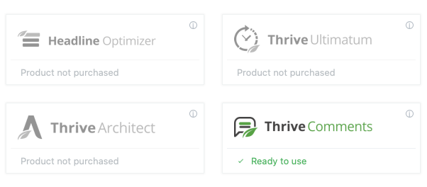 Available Product by Thrive Themes
