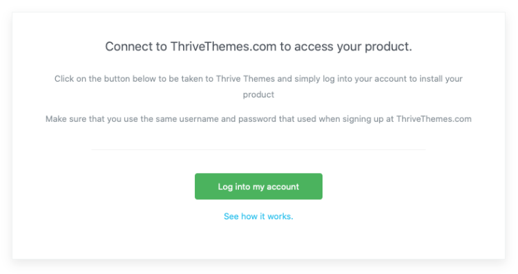 Thrive Themes Account Connection For Thrive Product Manager Plugin