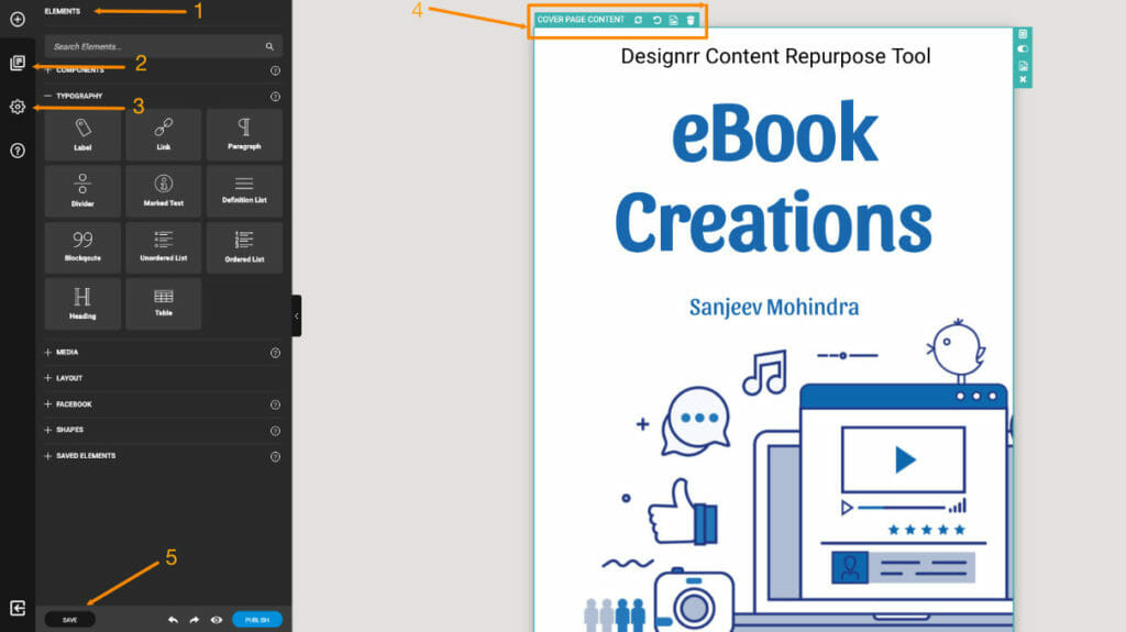 Designrr eBook Editor Screen