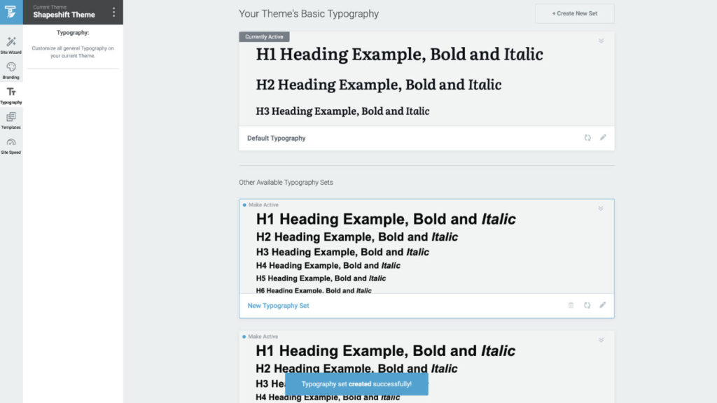 Typography Set Creation In Thrive Theme Builder