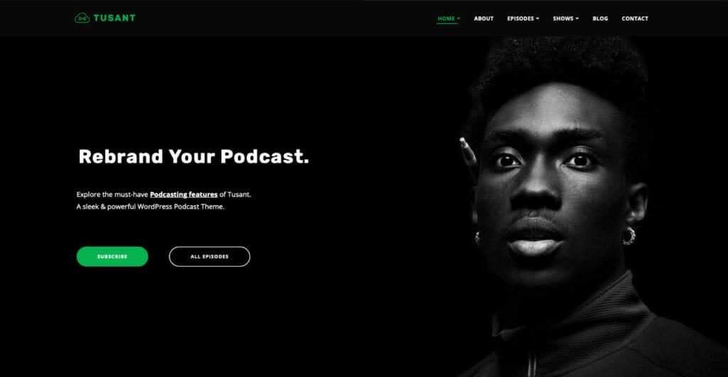 Tusant WordPress Theme For Podcast Site