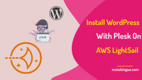 How To Easily Install WordPress With Plesk On AWS LightSail