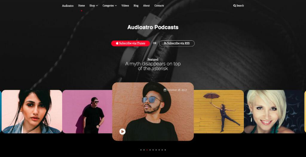 Audioatro WordPress Theme To Host Podcast