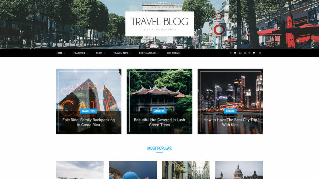 CheerUP WordPress Theme For Travel Blogs