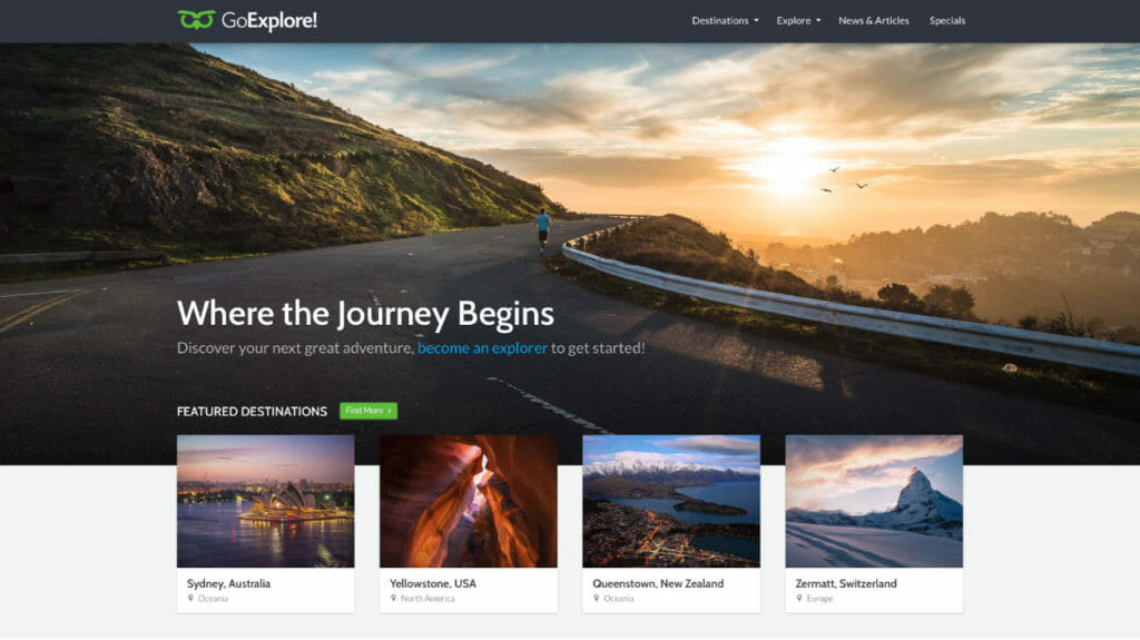 GoExplore WordPress Theme For Travel Blogs