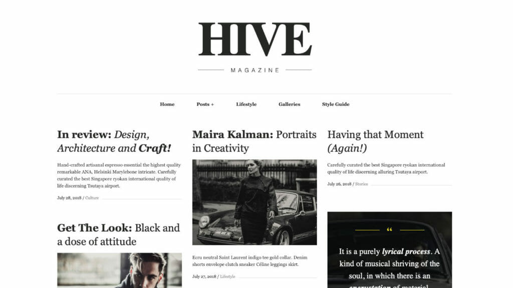 Hive Magazine Theme For WordPress