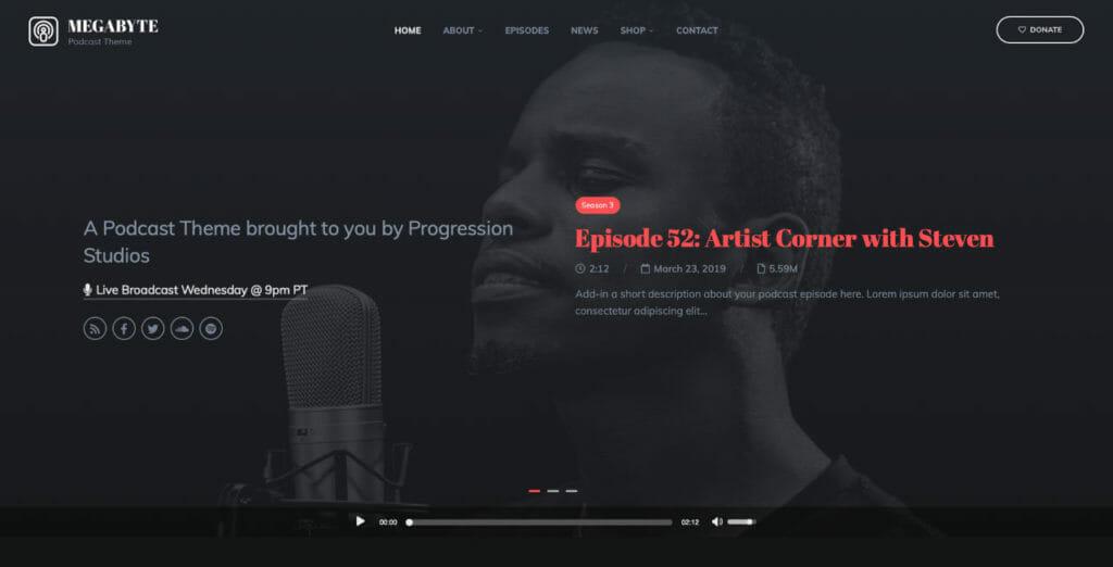 MegaByte WordPress Theme For Audio Creators