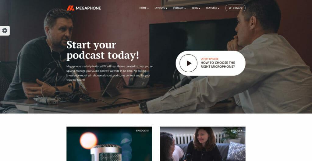 Megaphone WordPress Theme For Visual Creators