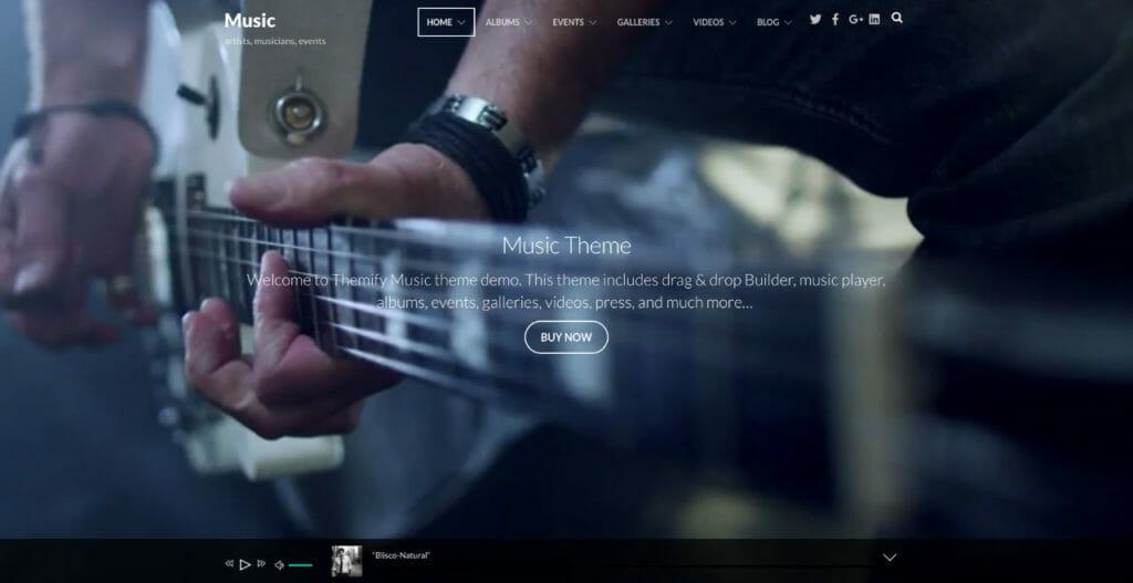 Music WordPress Theme For Music Store