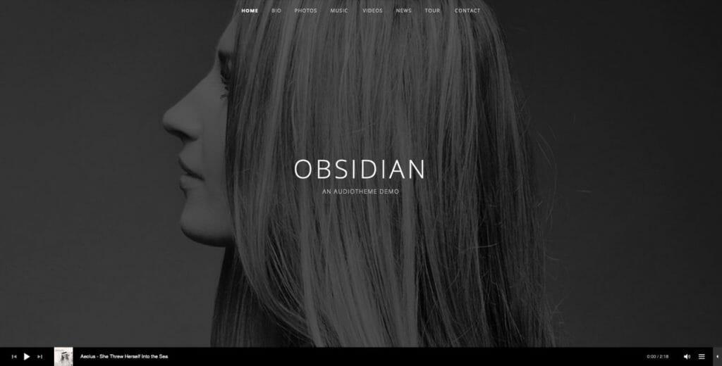 Obsidian WordPress Theme For Audio Gigs