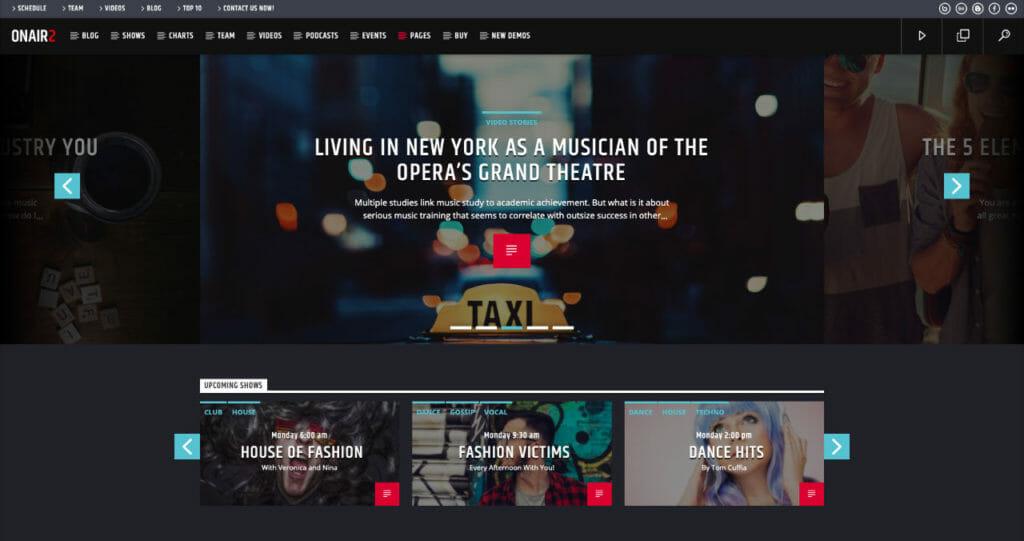 OnAir2 WordPress Theme To Host Radio Channel