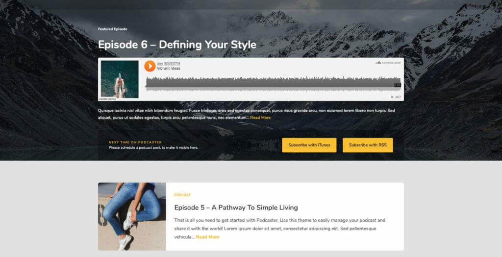 Podcaster Multipurpose WordPress Theme