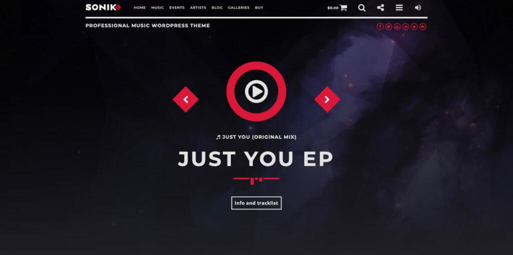 Sonik WordPress Theme For Music Labels