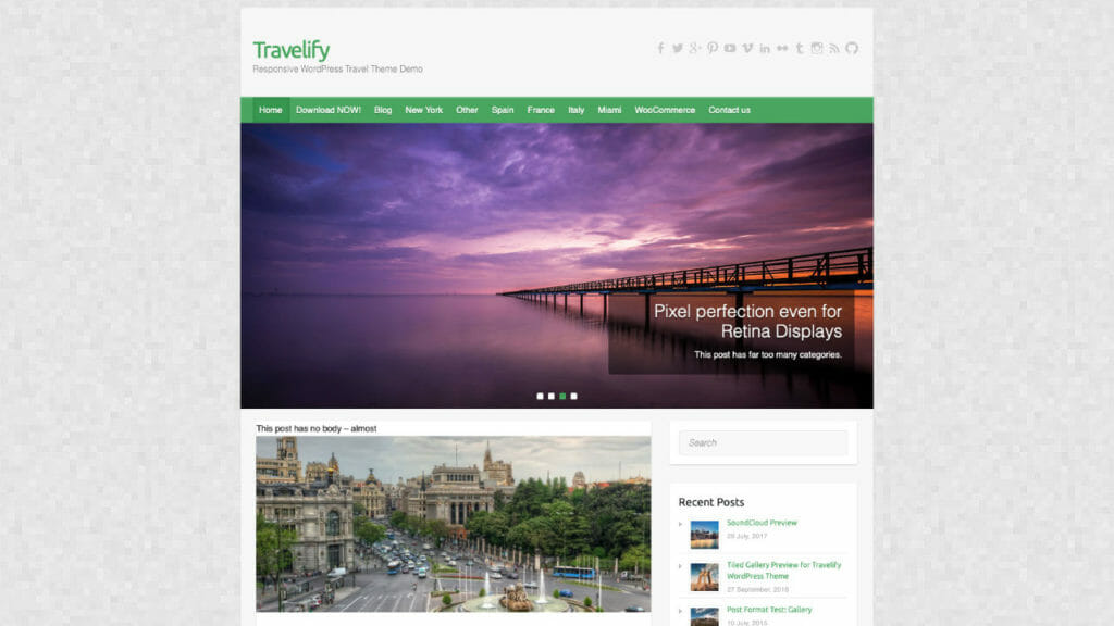Travelify WordPress Theme From Colorlib