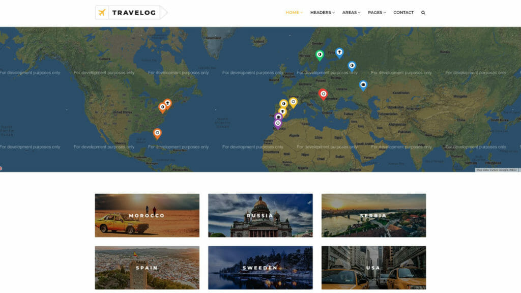 Travelog Theme From ThemeForest