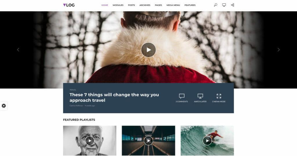 Vlog WordPress Theme For Visual Storyteller