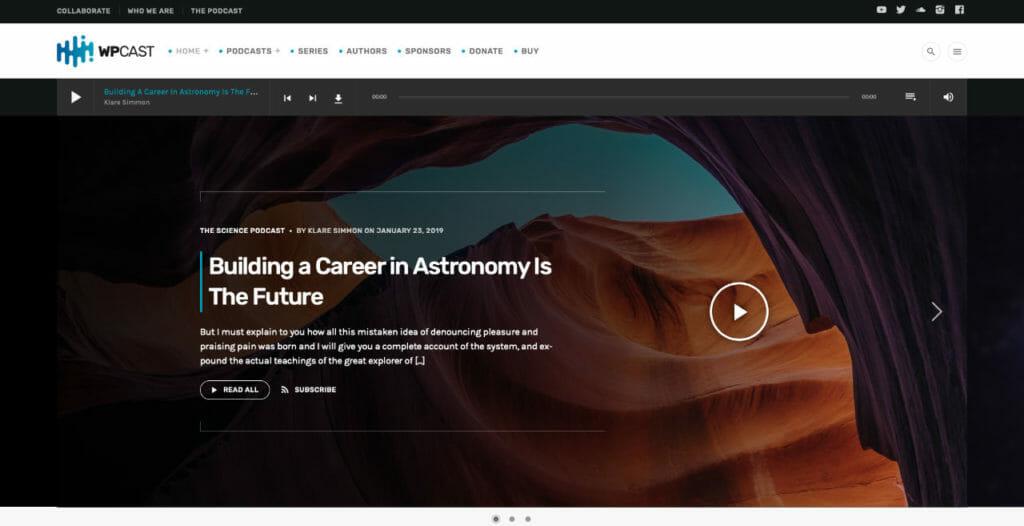 WpCast WordPress Theme For Audio Creators
