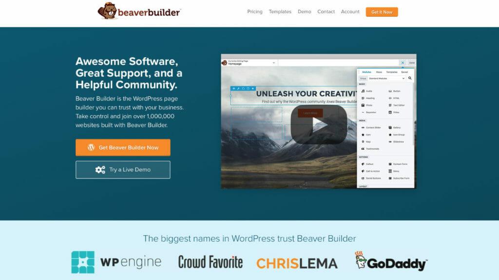 Beaver Builder For WordPress Visual Editing