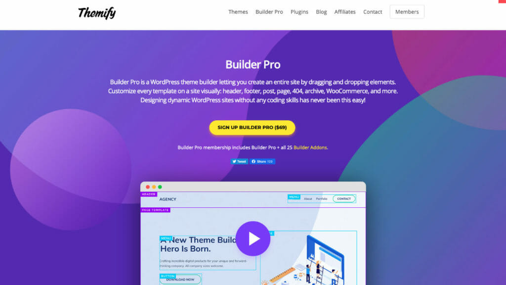Builder Pro WordPress Plugin From Themify