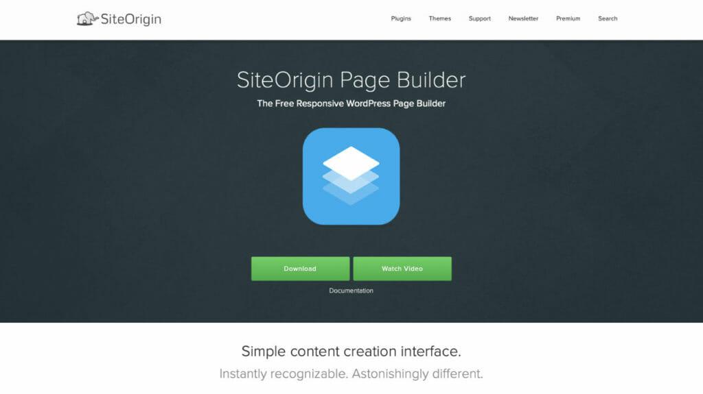 Site Origin Page Builder For WordPress