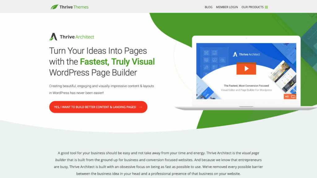 Thrive Architect Page Builder For WordPress