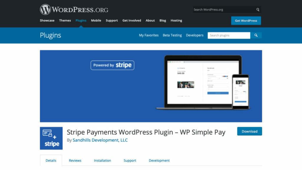 WP Simple Pay Stripe Payment WordPress Plugin