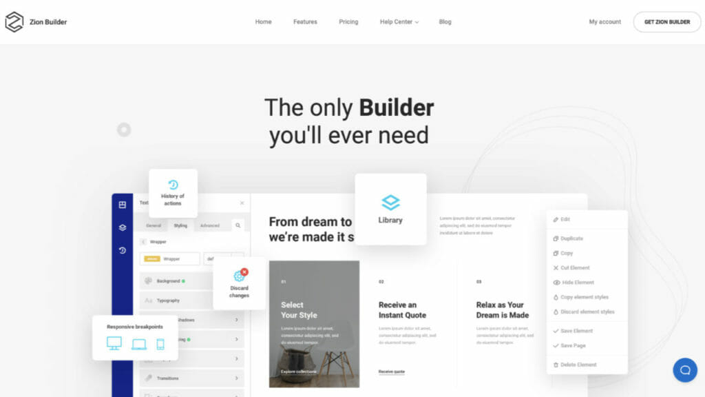 Zion Page Builder For WordPress