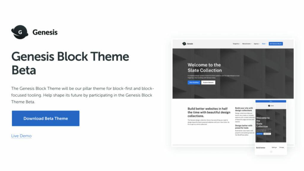 Genesis Block Theme BETA Testing