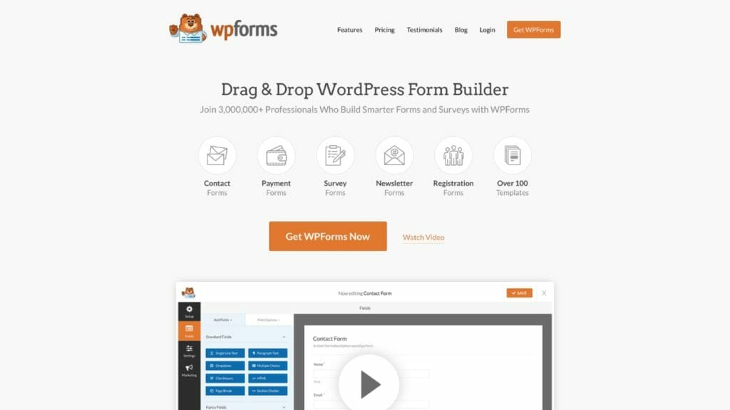 WPForms WordPress Plugin For Creating Forms and Surveys