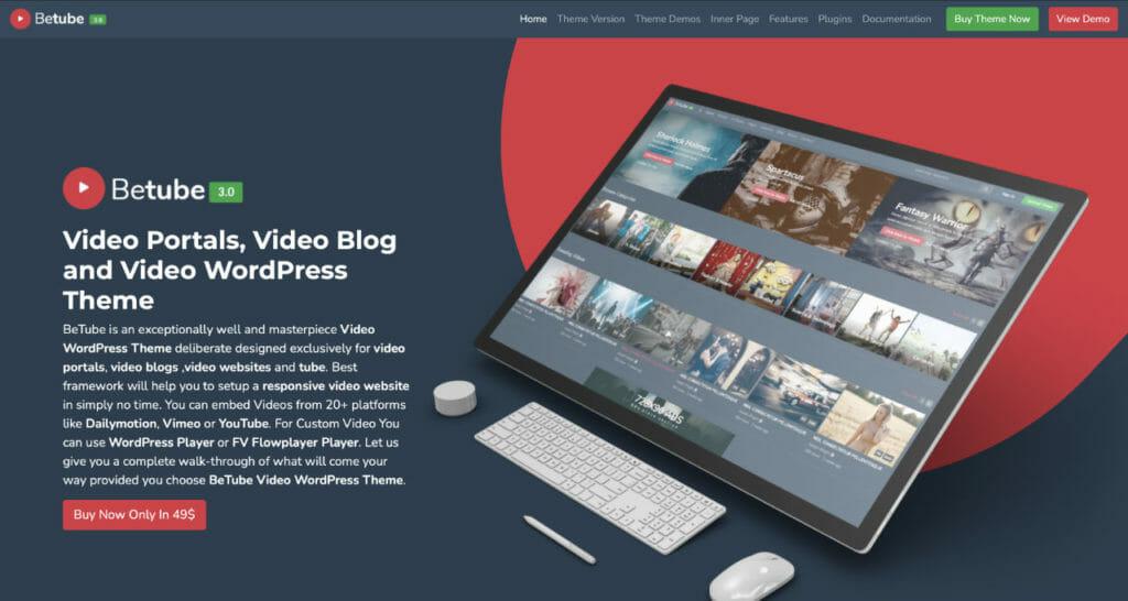 BeTube WordPress Theme For Vloggers
