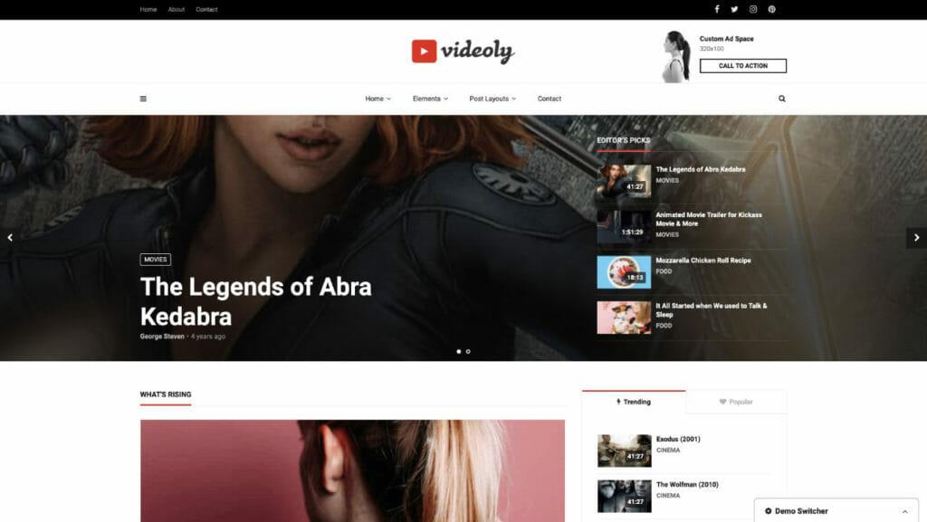 Videoly WordPress Theme