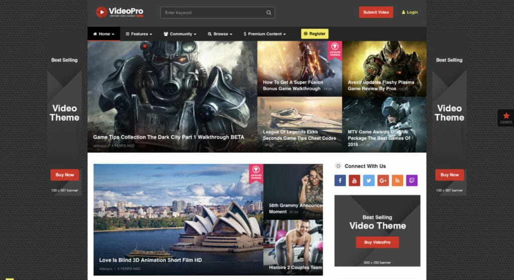 VideoPro WordPress Theme For Video Content Site