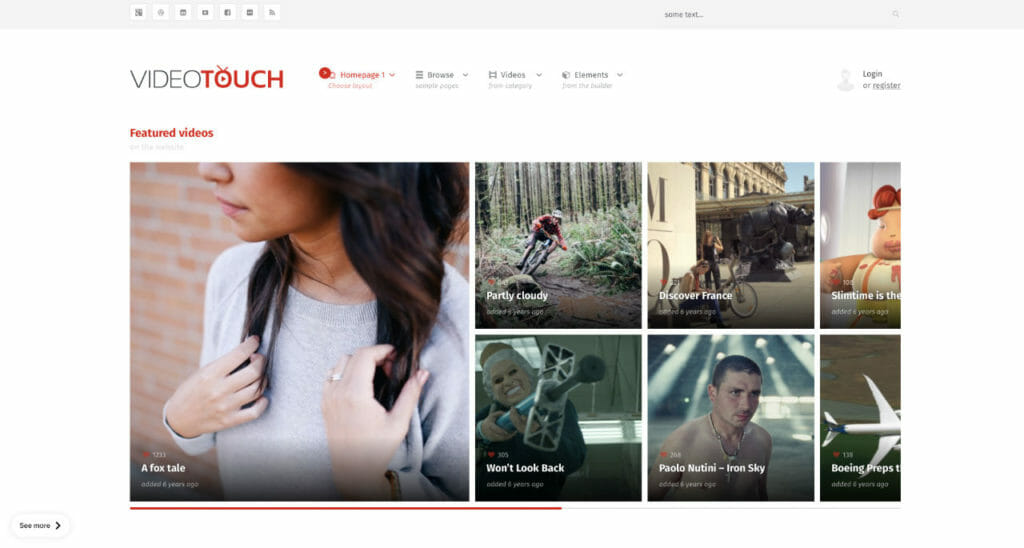 VideoTouch WordPress Theme For Video Content