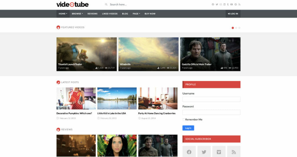 VideoTube Theme For Video Creators