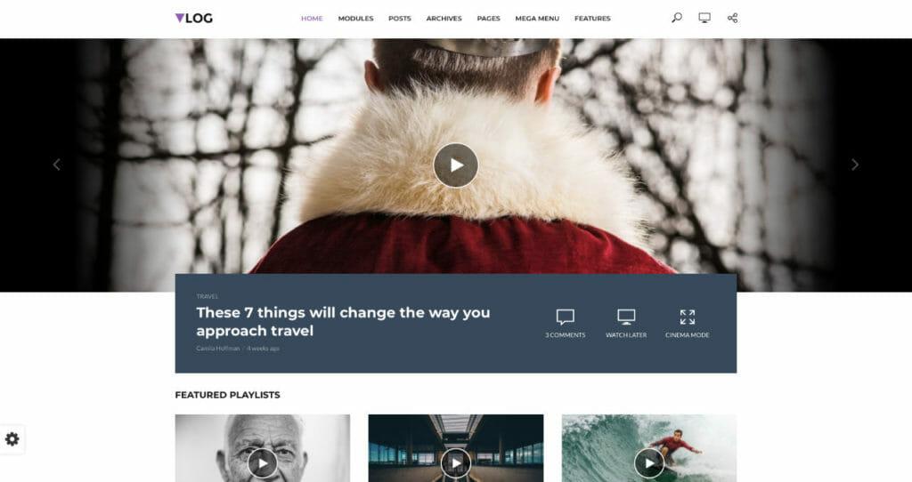 Vlog Video Theme For WordPress